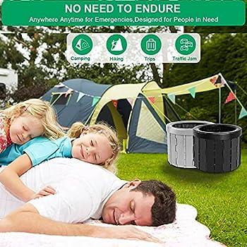 YOMERA Toilette Camping, Toilette Portable avec 12 Sacs de Nettoyage, Toilettes Sèches Portable pour Camping, Randonnée, les Longs Voyages, Charge Maximale de 150kg