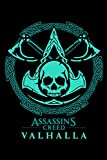 Assassin's Creed Valhalla Notebook Skull Black Edition: Minimalist Composition Book | 100 pages | 6' x 9' | Collage Lined Pages | Journal | Diary | ... School, College, University, School Supplies