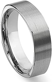 MFC Tungsten Square Wedding Band Ring