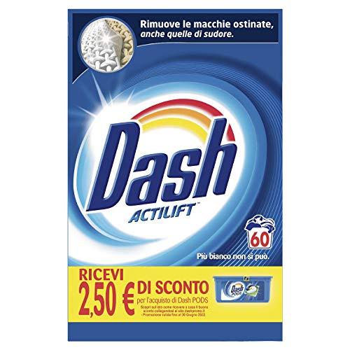 Dash Detersivo Lavatrice Polvere Regolare, 60 Lavaggi