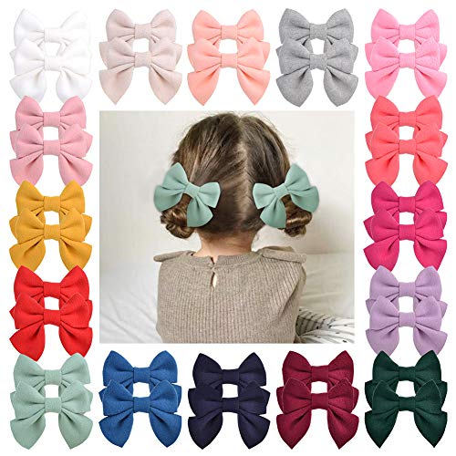 32pcs Baby Girls Hair Bows Alligator Clips Felt Hair Barrettes Hair Accessories for Little Girls Toddlers Teens Kids