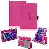 Medion Lifetab S10366 S10365 P10341 S10346 S10334 S10333 S10345 Tablet Hülle Schutzhülle passexakt praktische Standfunktion in 9 Farben Touch Pen Halterung aus hochwertige Verarbeitung, Farben:Pink