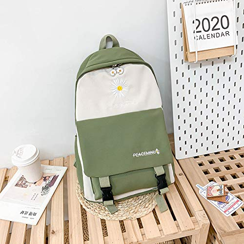 MNBVCX Little Daisy Schoolbag Korean Women'S Wild Contrasting Color Backpack Backpack 29X42X13Cm