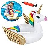 Giocattolo Unicorno Piscina BESLIME Anello Gonfiabile di Nuotata Dell'unicorno, Adulto Bam...