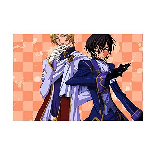 HQHQH Code Geass Lelouch of The Rebellion Clovis la Britannia and Lelouch Lamperouge Wooden Rompecabezas de Madera de Anime Rompecabezas de Juegos de Juguete de descompresión Familiar (300pcs)