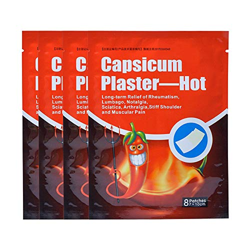 Magiin 32 Patches Analgesic Patches Pain Release Relief Relaxing Capsicum Plaster for Arthritis Rheumatism Joint Problems Non-Woven (32 Patches)