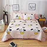 Colcha acolchada 100% algodón, 3 piezas, multiusos, de retazos, edredón, manta, sábanas, juego de cama, funda de cama, funda de almohada, decoración para el hogar, adecuada para las cuatro estaciones,