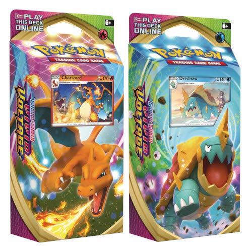 Pokèmon 175-80757 Pokemon-Sword & Shield 4 Vivid Voltage-Theme Decks-Set of 2 Charizard & 1 x Drednaw