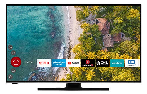 Hitachi HT43U6100C 108 cm / 43 Zoll Hotel Fernseher (Smart TV inkl. Prime Video/Netflix/YouTube, 4K UHD, Dolby Vision HDR/HDR 10 + HLG, Bluetooth, Works with Alexa, Triple-Tuner)