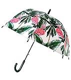 Goods4good Paraguas para Mujeres, niñas Adolescentes, con Forma de Burbuja, Transparente, con Dibujos de Unicornios, Resistente al Viento con Varillas y Estructura de Fibra. Diámetro 81 cm. (Verde1)
