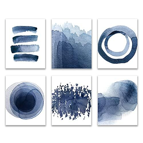 Wall Art Prints 8X10 UNFRAMED Abstract Blue...