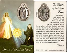 Premium assorted Holy Cards with Medal | Catholic Saints and Prayers with medals (Chaplet of Divine Mercy)