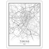 NBHHDH Leinwand Bild,Nordic Italien Turin Stadt Drucken
