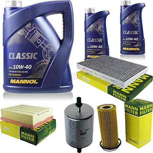 QR-Parts Set 85500161 CUK 3037 HU 7029 z MN7501-1 MN7501-5 C 27 192/1 WK 720/4 paquete de inspección 7 L Classic 10W-40 + MANN paquete de filtros 1093458