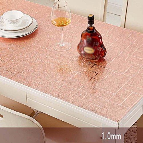 Coussin de table en plastique imperméable rose de nappe imperméable d'huile de Tableau de PVC imperméable , B , 90*140cm