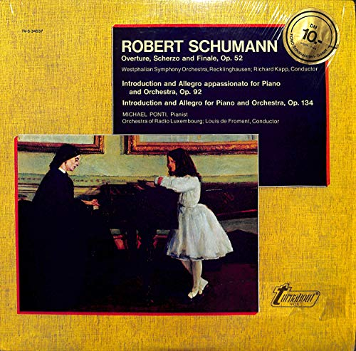 Schumann: Overture, Scherzo and Finale, op. 52; Intruduction and Allegro - TV-S 34537 - Vinyl LP