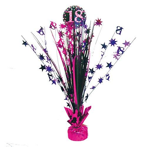 Neu: Nouveauté : Décoration de Table * Magenta Sparkling * pour Le 18e Anniversaire DE 18 Ans de Centerpiece Déco Happy Birthday Set Rose pailleté Noir