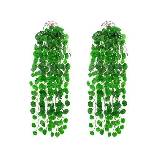 LUCY WEI 2 Pcs Artificial Ivy Artificial Hanging Plants,40 Inch Long Hanging Vine Plantsfor Wedding Party Garden pergola Decoration