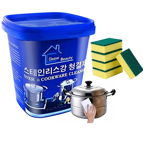 XFSSFWB Pasta per la Pulizia dell'Acciaio Inossidabile, detergente per forni e pentole Astonish, detergente per la Cucina Domestica, Dispositivo per la rimozione della ruggine Dispositivo