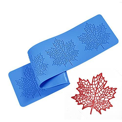 TROYSINC Stampo in silicone a forma di punta, per decorazioni per torte, in pasta di zucchero, con motivo floreale (stile D)