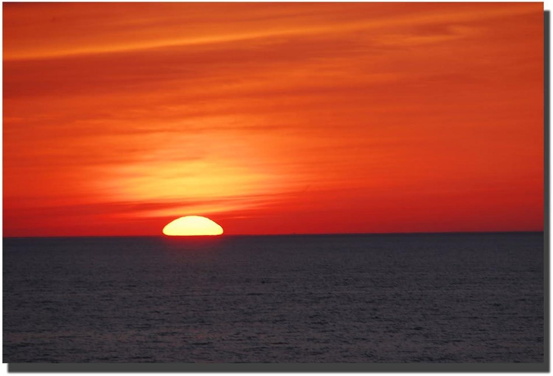 Trademark Fine Art Great Lake Sunset, 24x36 by Kurt Shaffer Canvas Wall Art, 24x36Inch