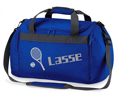 Gepersonaliseerde sporttas met naam bedrukken tennis, reistas bedrukt
