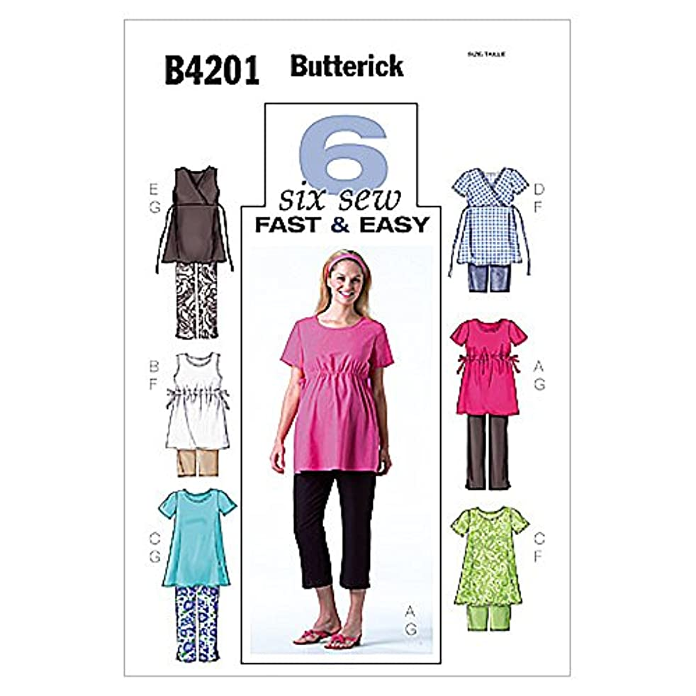 Butterick Misses'/Misses' Petite Maternity Top, Shorts and Pants Pattern - Size: 8-10-12 - Pattern Number: B4201