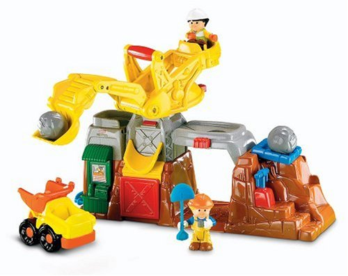 Fisher-Price Little People Eddie and His Boulder Worksite