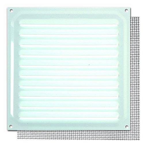 Brinox B73010D Rejilla con mosquitera, Lacado Blanco, 15 x 15 cm