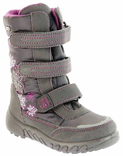 Richter Kinder Winter Boots Stiefel grau Warmfutter SympaTex Mädchen Blinkie 5151-831-6501 steel Husky WMS, Farbe:grau;Größe:31