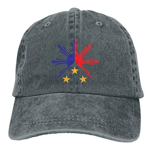 Tribal Philippines Filipino Sun and Stars Flag Classic Adjustable Denim Cap Baseball Cap Hats for Women & Men
