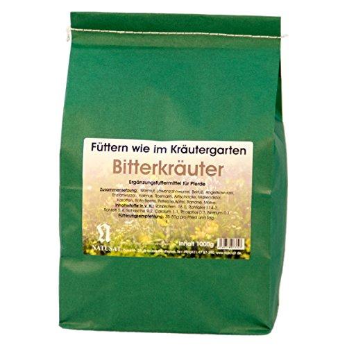 Natusat Kräutermischung Bitterkräuter 1000 g - Kräuter Pferde/Ergänzungsfutter für Pferde