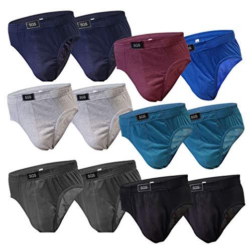6-12 Slips Herren Unterhosen Männer Slip Unterwäsche aus Baumwolle Unterhose Maenner Farbmix (XXXL, 12.Stück 580), Herstellergröße 10