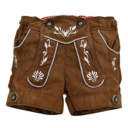Baby-Kunstledershorts in Bester Qualität Gr. 74 I Schöne Jungen-Shorts in Hellbraun I Schöne Baby-Kunstlederhose in Lederoptik I Wunderschöne Kinderbekleidung