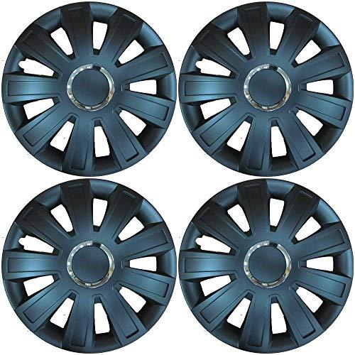 Black /& White, 15 NRM Strong Duocolour Universal Wheel Trims SET of 4 Caps!