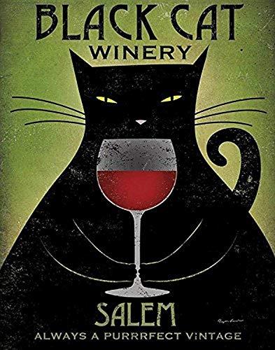 Buyartforless Black Cat Winery Salem by Ryan Fowler 14x11 Art Print Poster - Always