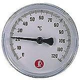 """R540 Termometro con pozzetto R540Y021 3/8"""" - scala 0÷120 °C GIACOMINI"""