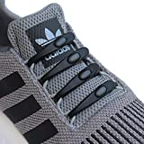 Elastic No Tie Shoelaces for Kids and Adult Tieless Laceless Shoe Laces -Black