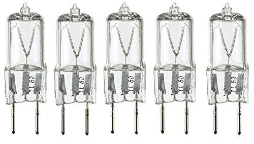 LSE Lighting 5 Pack - 20 Watt Xenon G8 20w 20 watt 120V T4 Light Bulbs JCD 120 Volt