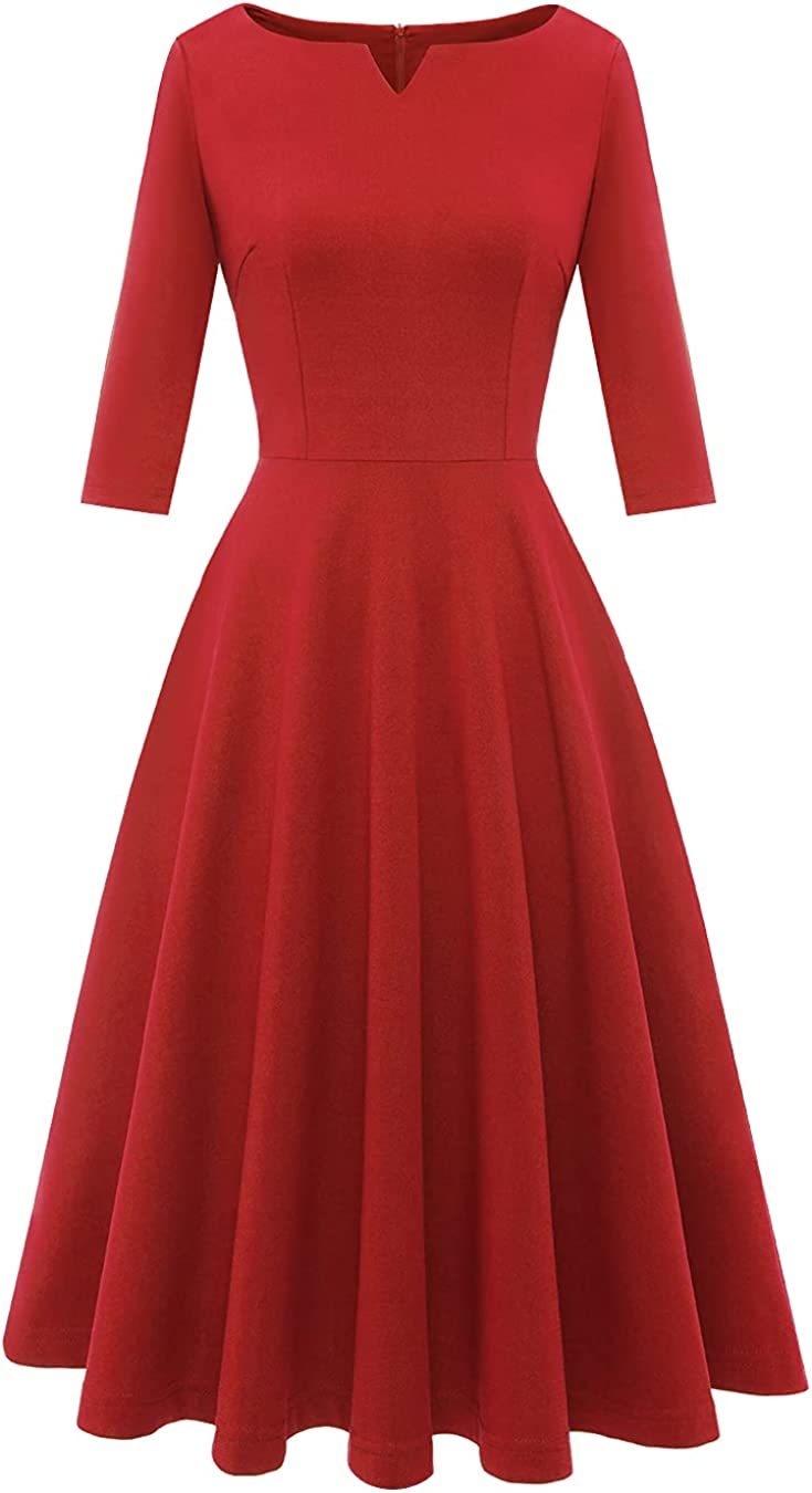 BeryLove Women Prom Tea Dress Cheap mail order shopping Vintage A-Line Max 72% OFF Party Cocktail Swin