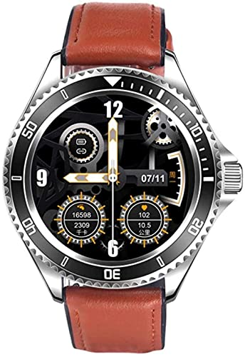 Reloj Inteligente Bluetooth Llamada Hombres Clásico 1 28 TFT Completo Redondo Reloj de Pulsera Deportiva Fitness Música Smartwatch Pulsera Inteligente Actividad Fitness Tracker A-E
