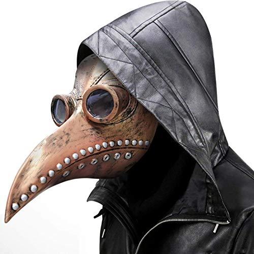 WWWL máscara de Halloween de cuero en negro pico máscara de la...