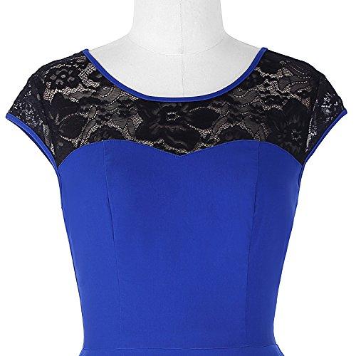 Damen festliche kleider petticoat kleid 50er jahre L BP236-2 - 6