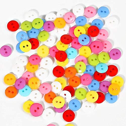 50/100 Uds botones de costura para niños herramientas de plástico para ropa 2 agujeros 9/10/11/12/15 / 20MM forma redonda colores aleatorios accesorios para ropa-9mm 100 Uds