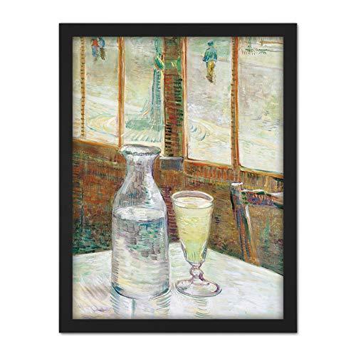 Vincent Van Gogh Cafetafel Met Absint Large Framed Art Print Poster Wall...