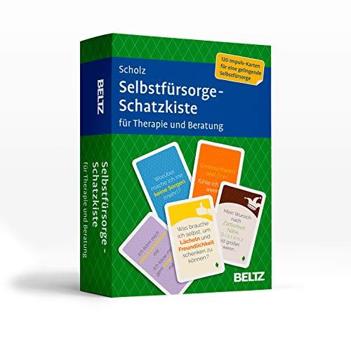 Selbstfürsorge-Schatzkiste für Therapie und Beratung: 120 Karten mit 20-seitigem Booklet in stabiler Box, Kartenformat 5,9 x 9,2 cm (Beltz Therapiekarten)