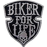 Biker for Life parche hierro Sew en bordado insignia moto motocicleta Chopper