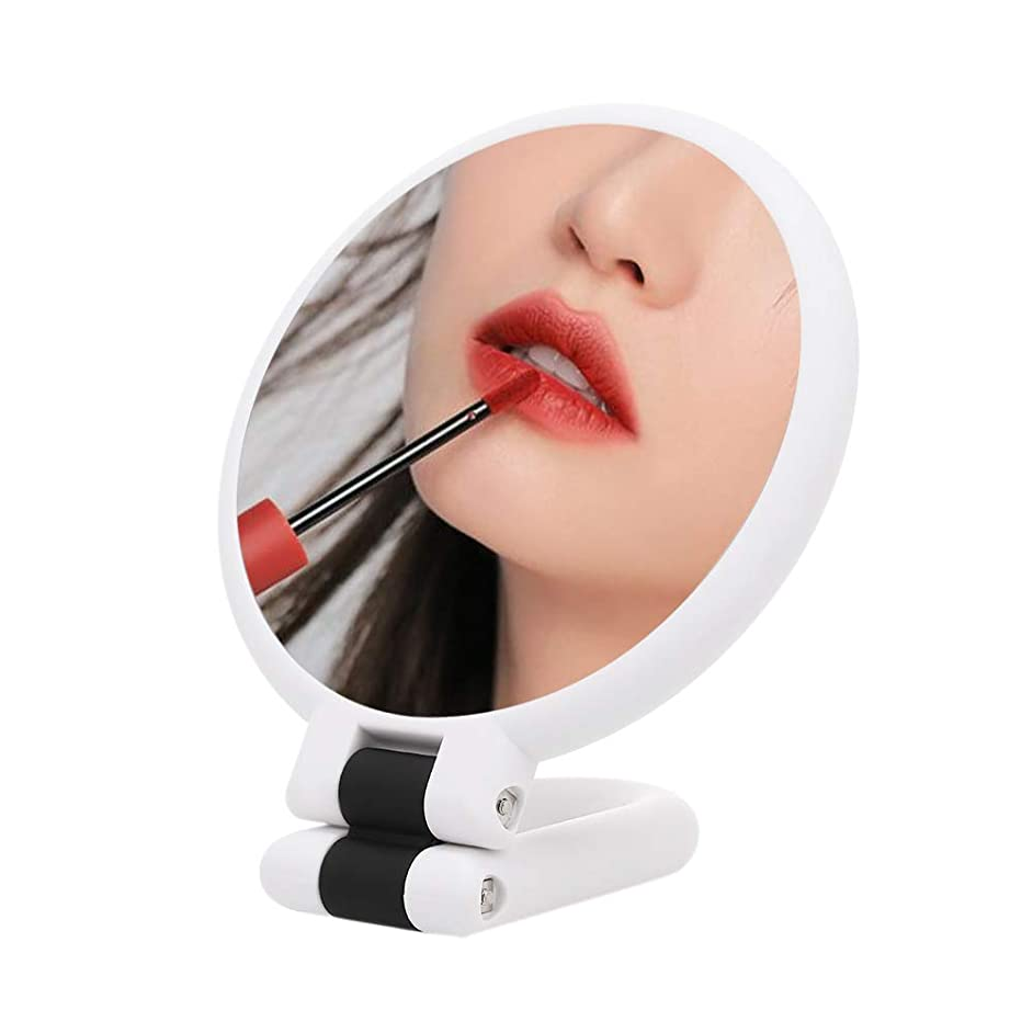 キャプテンブライ概要職業手鏡 拡大鏡 折りたたみ式 両面鏡 化粧鏡 メイクアップミラー 15倍拡大 高精細 「ホワイト」 …