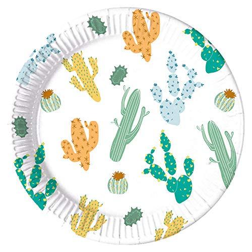 Folat - Platos Papel Compostable Cactus 23cm - 8 piezas