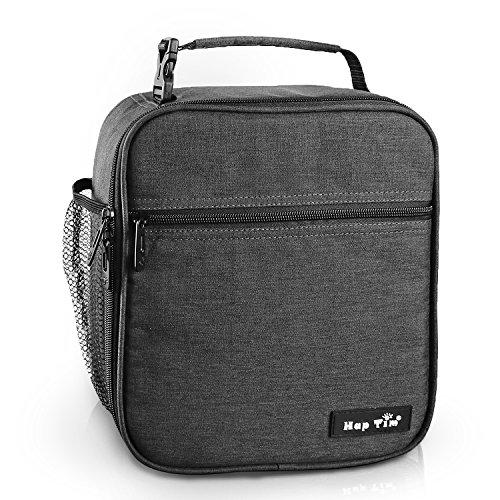 Hap Tim Lunchbox Tasche kühltasche Isoliertasche kleine Lunchtasche für die Arbeit und Schule 6.5L Lunch Tasche Thermotasche Picknicktasche Mittagessen Tasche Bento Box(Gray UK-18654-DG)